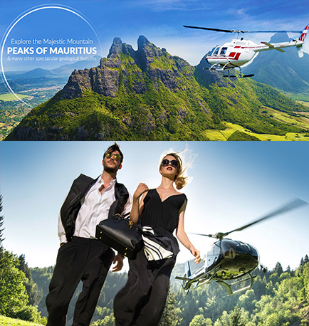 helicopter transfer mauritius